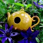 birdhouses & flowers http://ourfairfieldhomeandgarden.com/may-garden-birdhouses-flowers/