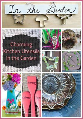 The Garden Charmers http://ourfairfieldhomeandgarden.com/kitschy-kitchen-garden-accents/