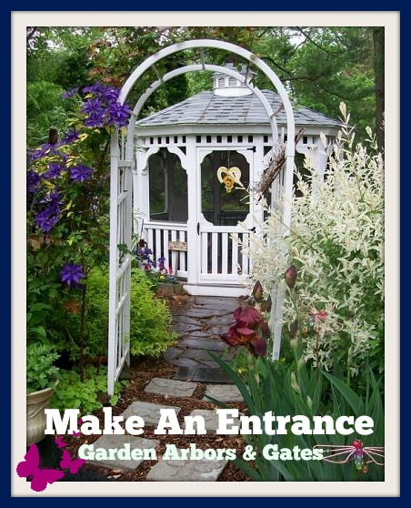 Make An Entrance http://ourfairfieldhomeandgarden.com/garden-arbors-gates-make-an-entrance/