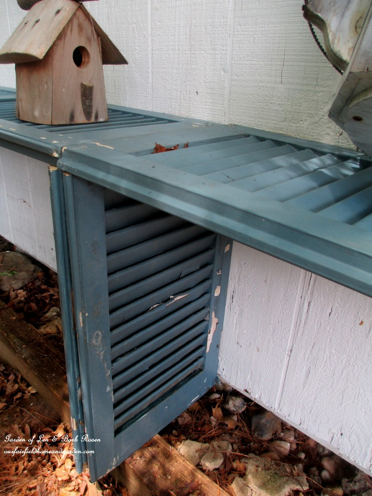 Shutter Potting Bench