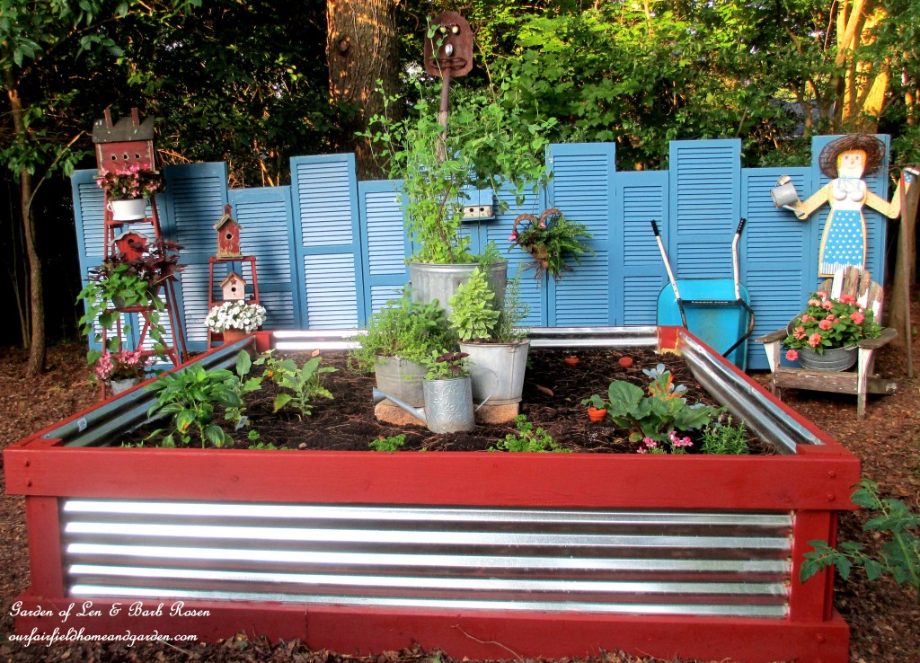 Raised Garden Bed https://ourfairfieldhomeandgarden.com/build-a-raised-bed-garden-our-fairfield-home-garden/