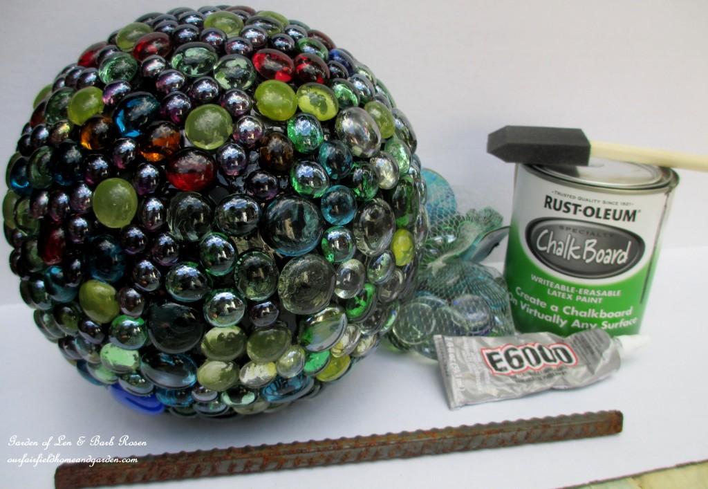Bowling Ball Garden Accent http://ourfairfieldhomeandgarden.com/diy-project-bowling-ball-garden-accent/