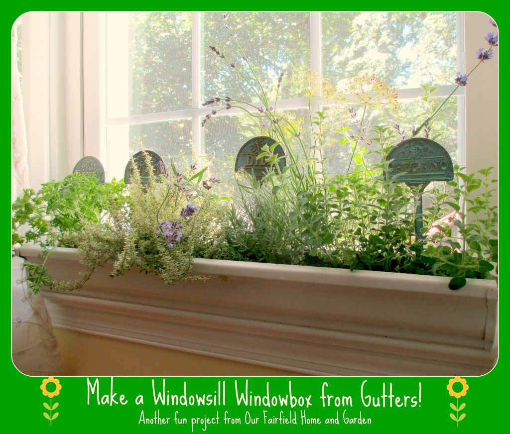 diy windowsill windowboxes our fairfield home garden. Black Bedroom Furniture Sets. Home Design Ideas