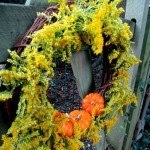 Solidago & Gourd Wreath http://ourfairfieldhomeandgarden.com/fall-is-in-the-air/