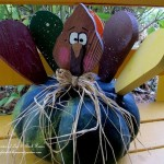 Turkey Gourd http://ourfairfieldhomeandgarden.com/autumn-garden-accents-inside-and-out/