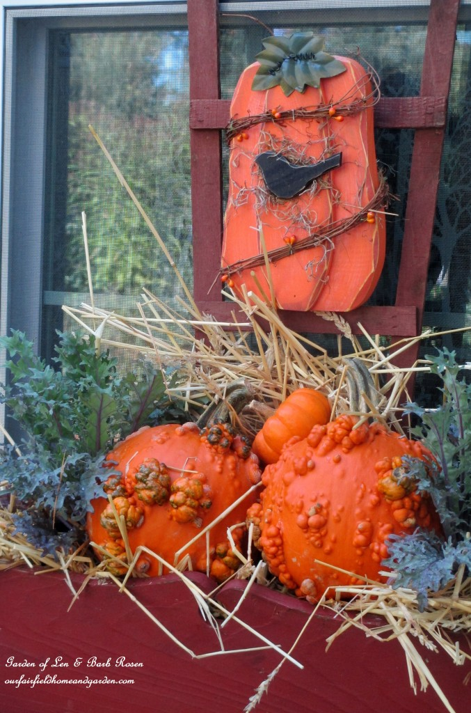 Fall Kitchen Windowbox https://ourfairfieldhomeandgarden.com/fall-outdoor-decor-our-fairfield-home-and-garden/