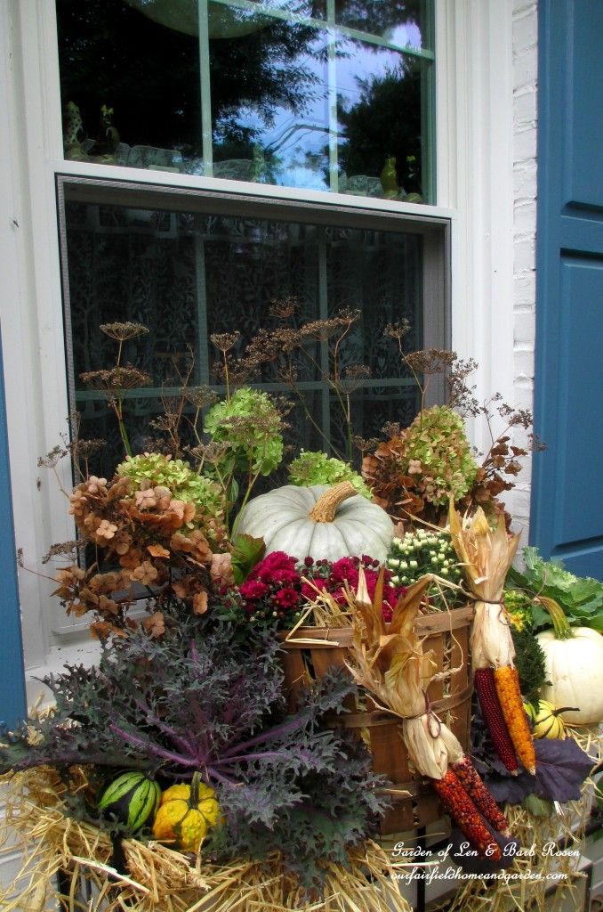 Fall Windowbox https://ourfairfieldhomeandgarden.com/fall-outdoor-decor-our-fairfield-home-and-garden/