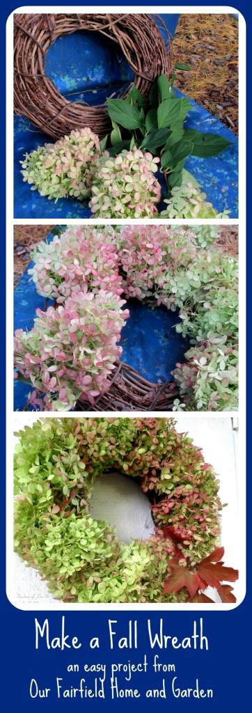 Make a Hydrangea Wreath http://ourfairfieldhomeandgarden.com/diy-free-fall-wreath-using-hydrangeas/