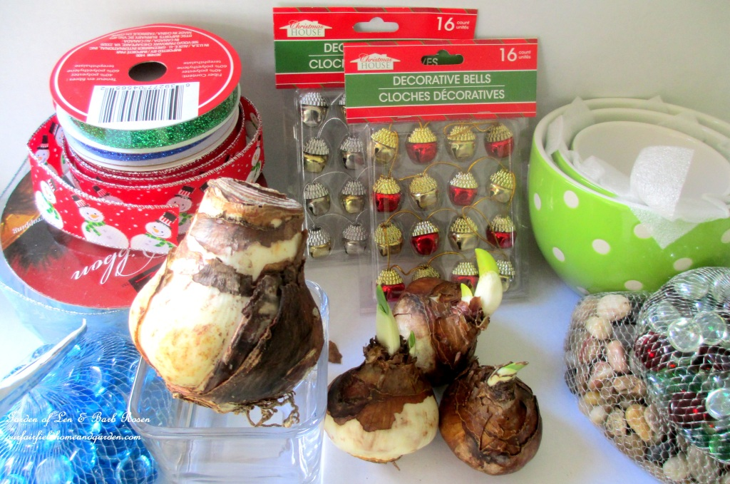 Bulb Forcing Materials http://ourfairfieldhomeandgarden.com/flowering-holiday-bulbs/
