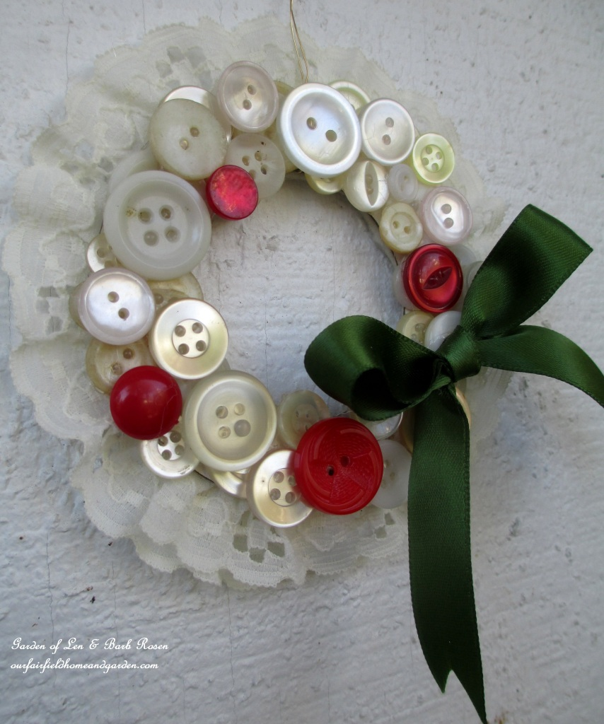 Vintage Button Wreath Ornament