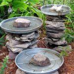 DIY Birdbaths for your garden! https://ourfairfieldhomeandgarden.com/diy-bird-baths-bring-birds-to-your-garden/