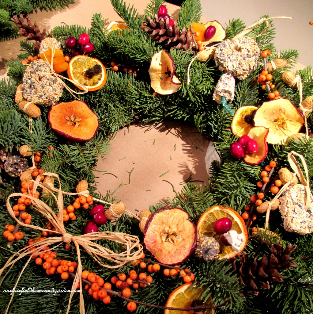 Natural Bird Wreath https://ourfairfieldhomeandgarden.com/natural-holiday-bird-wreath/
