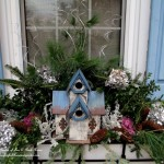 Birdhouse Windowboxes http://ourfairfieldhomeandgarden.com/its-beginning-to-look-a-lot-like-chanukah/