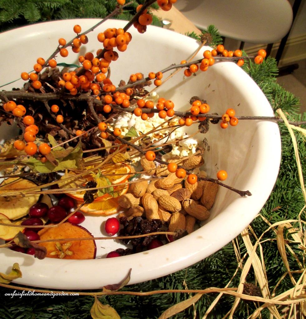 Natural Holiday Bird Wreath http://ourfairfieldhomeandgarden.com/natural-holiday-bird-wreath/