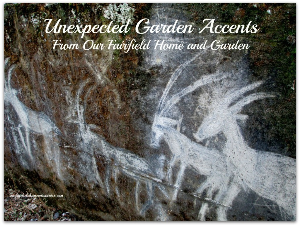 Unexpected Garden Accents ~ the making of a unique garden http://ourfairfieldhomeandgarden.com/unexpected-garden-accents/