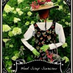Build a Wood Scrap Scarecrow Garden Accent! https://ourfairfieldhomeandgarden.com/diy-project-wood-scrap-scarecrow-my-garden-maiden/