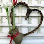 Amaryllis Heart Wreath http://ourfairfieldhomeandgarden.com/diy-amaryllis-heart-wreath/