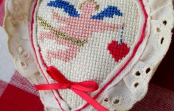 Cross Stitch Heart Sachet