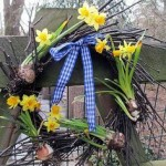 Spring Wreath https://ourfairfieldhomeandgarden.com/spring-is-busting-out-all-over/
