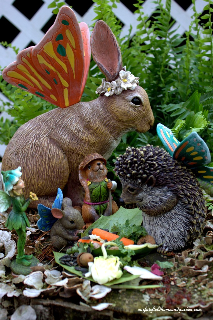 An Enchanted Guardians Breakfast http://ourfairfieldhomeandgarden.com/the-enchanted-guardians-come-to-my-garden/
