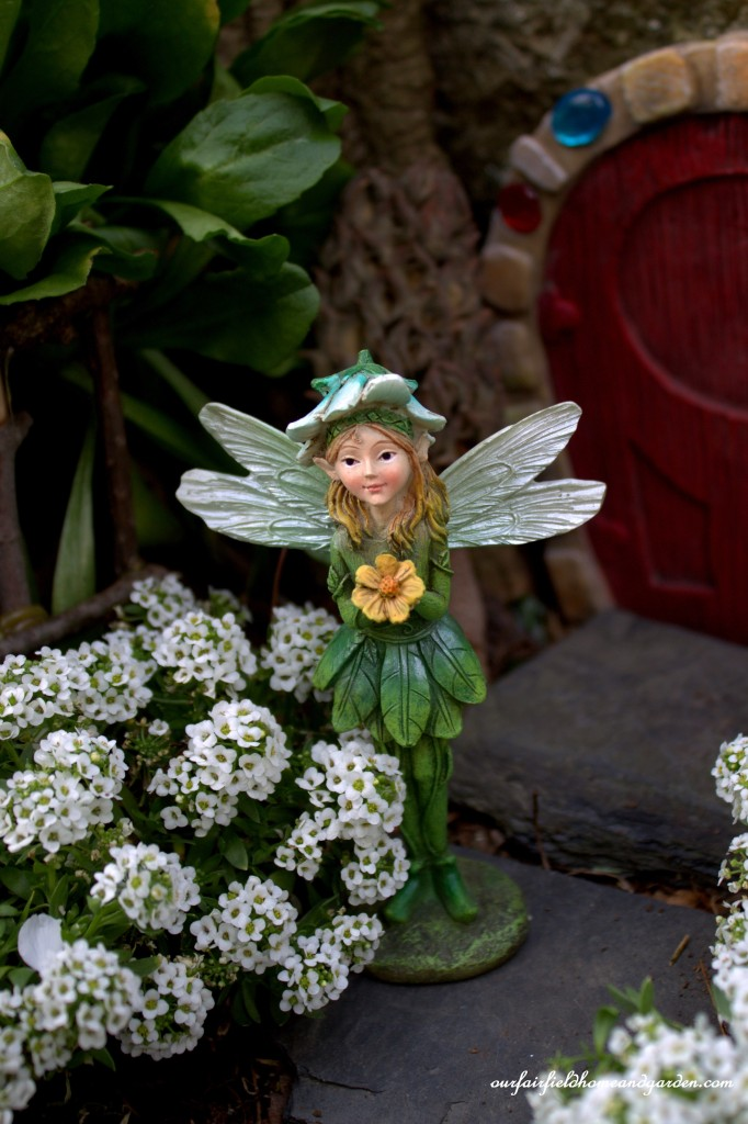 Fiona Fairy of The Enchanted Guardians http://ourfairfieldhomeandgarden.com/the-enchanted-guardians-come-to-my-garden/