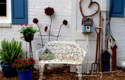 A Country Garden vignette covers the utility boxes!