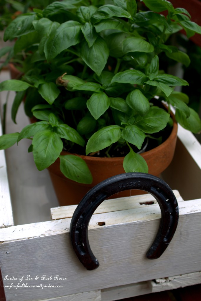 Horseshoe-Handled Herb Box by Our Fairfield Home and Garden http://ourfairfieldhomeandgarden.com/horseshoe-handled-herb-box/
