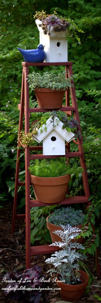 Greenroof Birdhouses https://ourfairfieldhomeandgarden.com/diy-easy-greenroof-birdhouses/