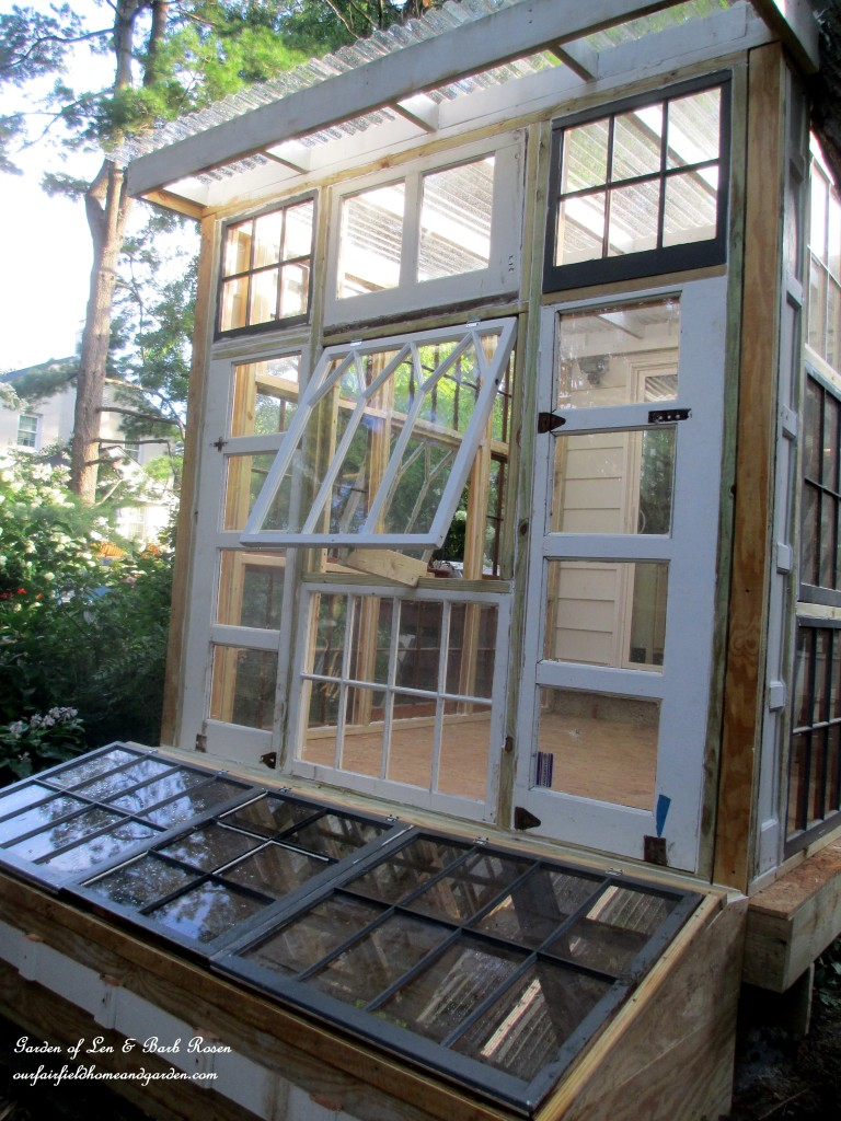 Building A Repurposed Windows Greenhouse Our Fairfield