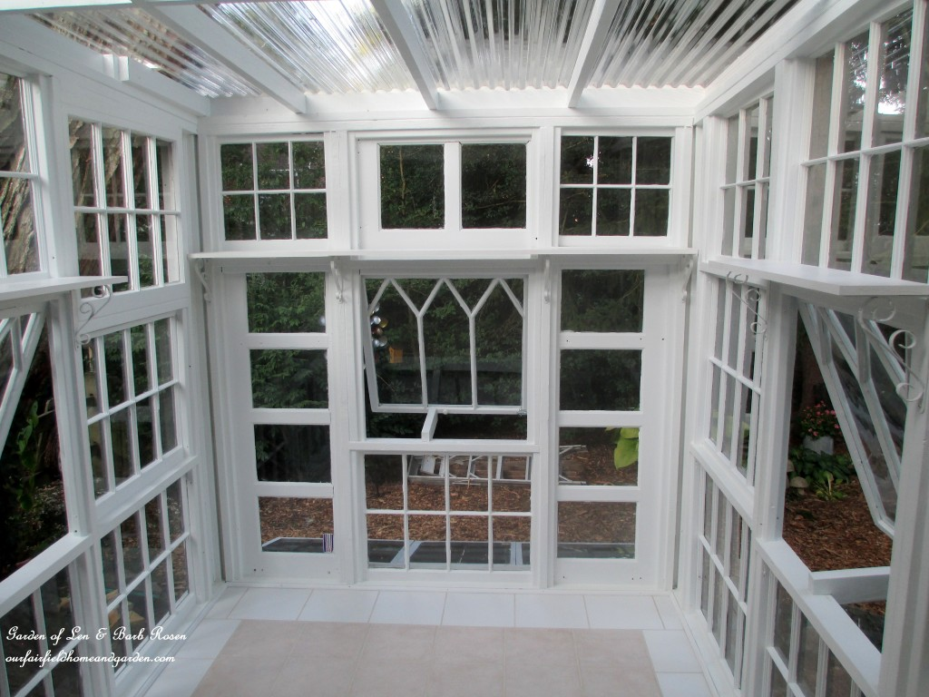 Repurposed Windows Greenhouse https://ourfairfieldhomeandgarden.com/building-a-repurposed-windows-greenhouse/