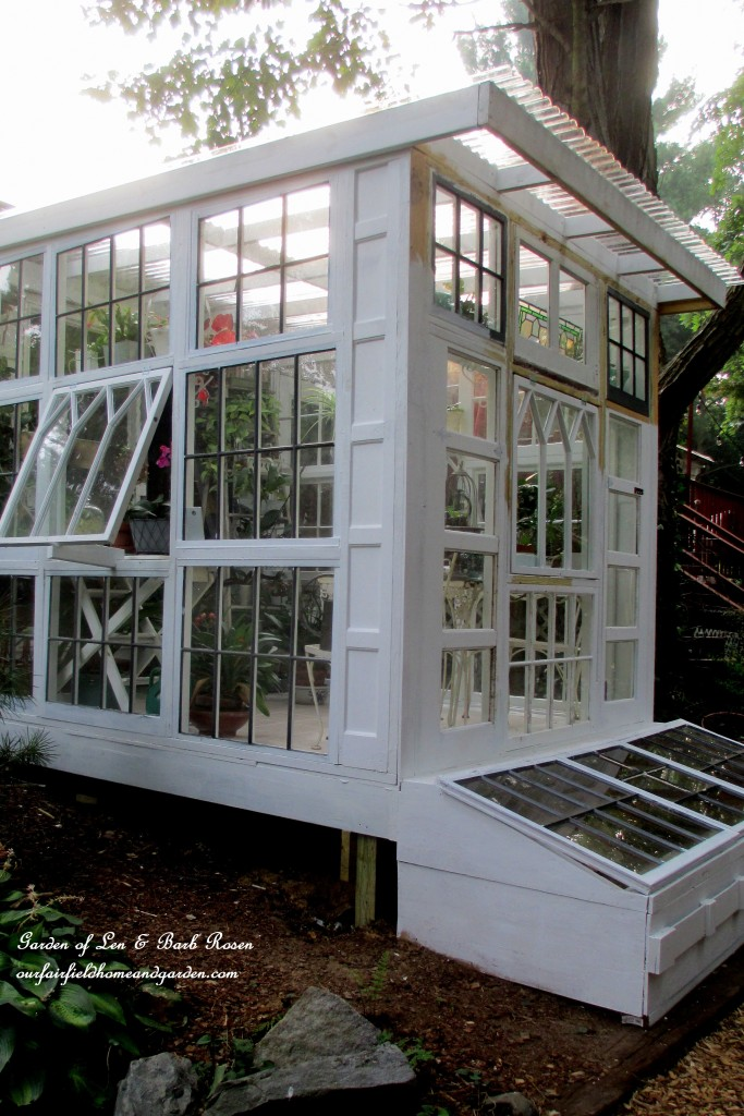 Building a repurposed windows greenhouse our fairfield for Windows for my house