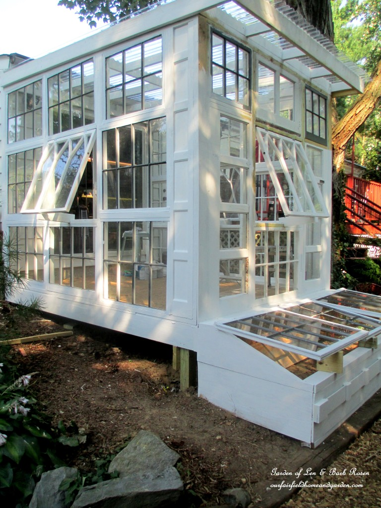 Repurposed Windows Greenhouse http://ourfairfieldhomeandgarden.com/building-a-repurposed-windows-greenhouse/