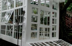 Repurposed Windows Greenhouse