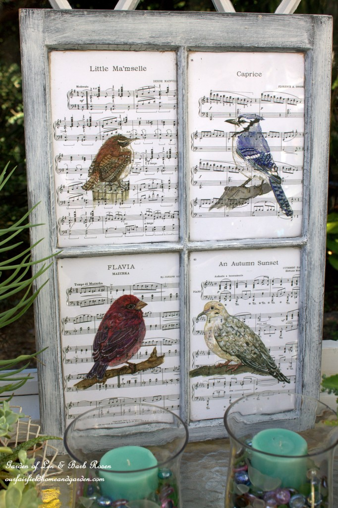 Recycled Window Picture Frame https://ourfairfieldhomeandgarden.com/recycled-window-picture-frame/