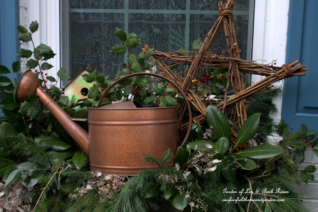 Rustic Winter Windowbox http://ourfairfieldhomeandgarden.com/rustic-winter-our-fairfield-home-and-garden/