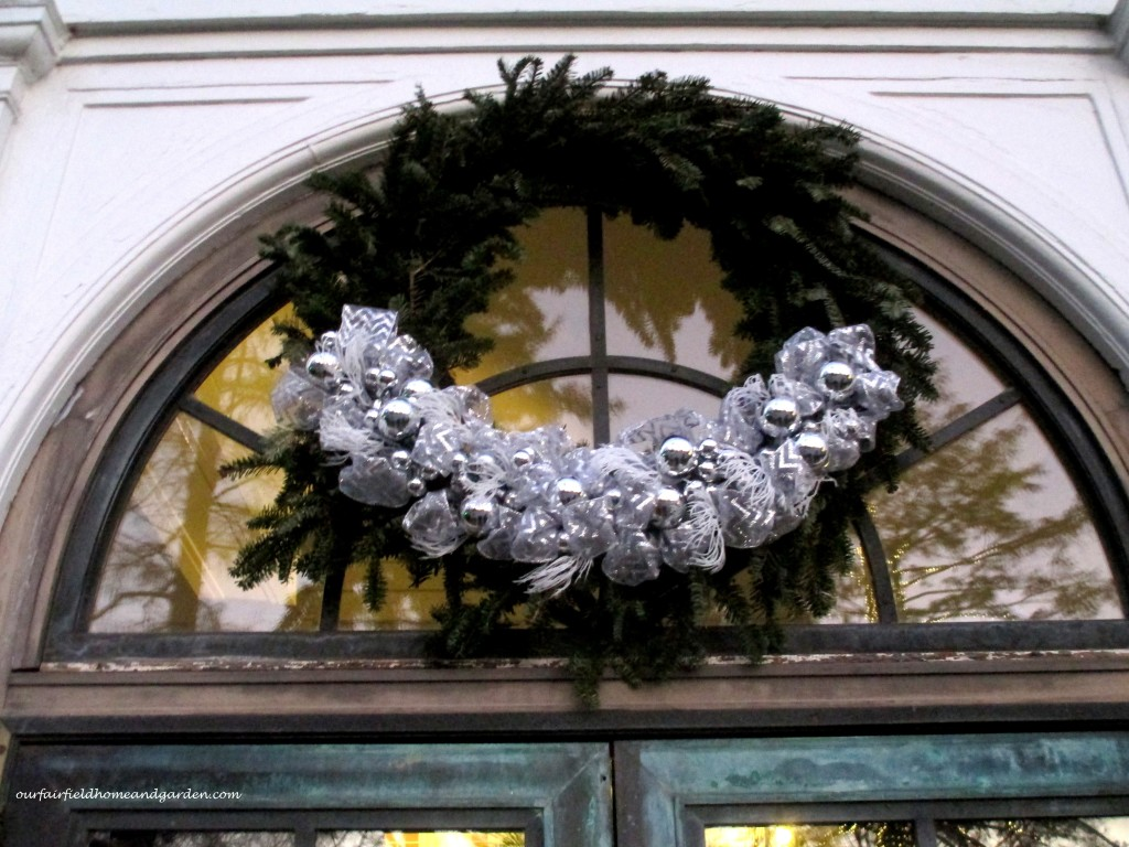 Christmas Wreath https://ourfairfieldhomeandgarden.com/a-longwood-christmas-evening-stroll/