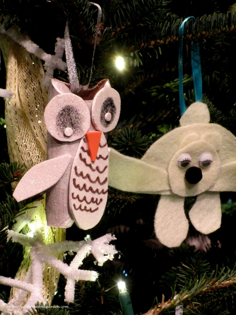 Child-crafted Ornaments https://ourfairfieldhomeandgarden.com/a-longwood-christmas-evening-stroll/