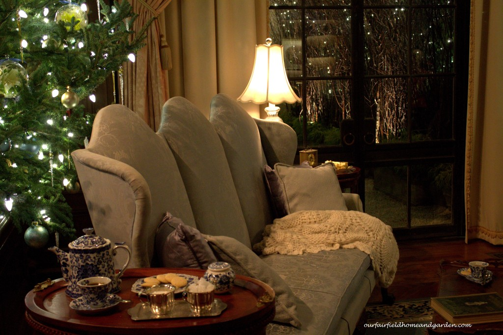 Tea and Cookies http://ourfairfieldhomeandgarden.com/a-longwood-christmas-evening-stroll/