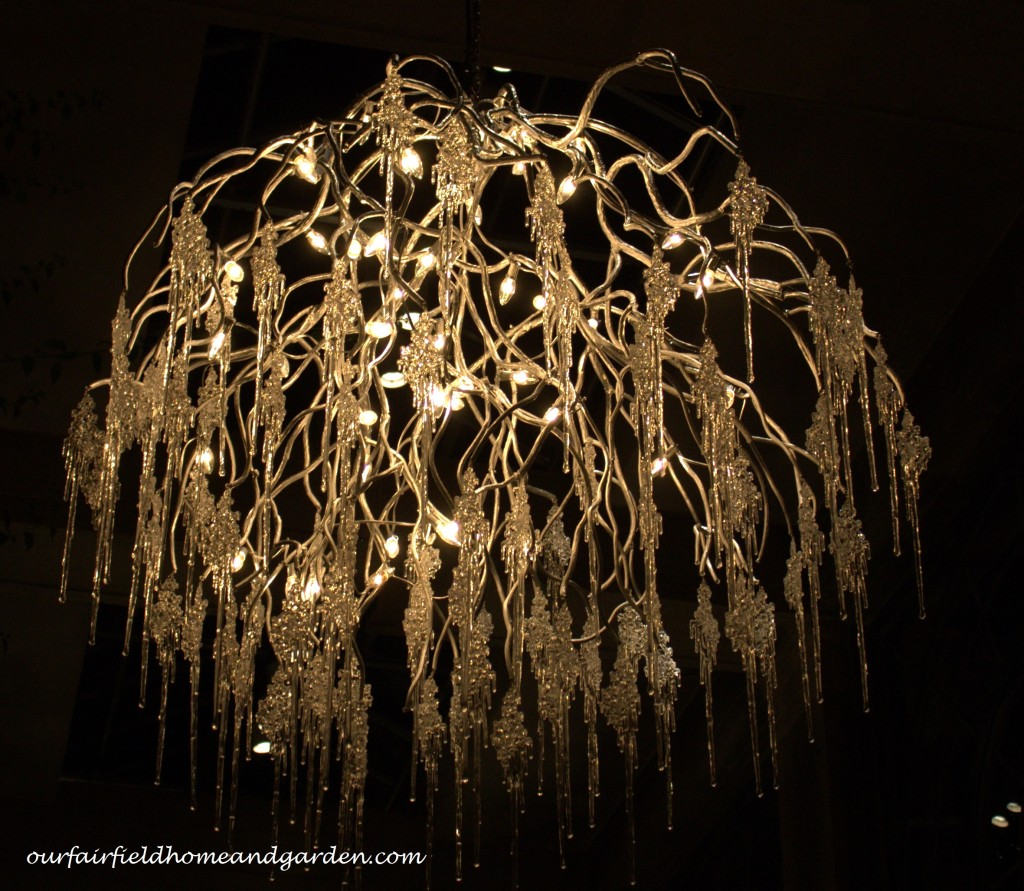 Branch Chandelier https://ourfairfieldhomeandgarden.com/a-longwood-christmas-evening-stroll/