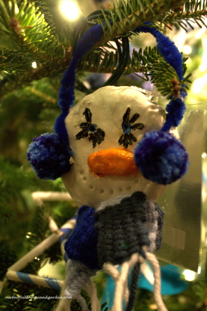 Snowman Ornament https://ourfairfieldhomeandgarden.com/a-longwood-christmas-evening-stroll/