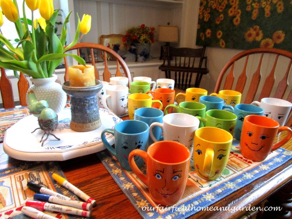 """Mugsies"" panter mugs http://ourfairfieldhomeandgarden.com/mug-pots/"