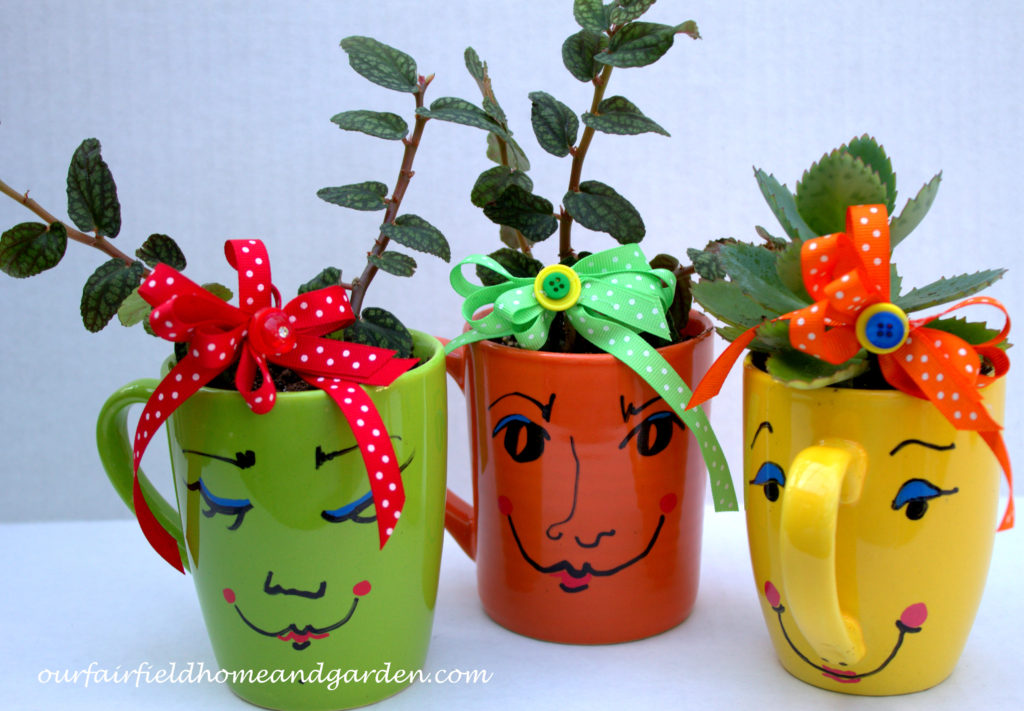 Mugsie Planter https://ourfairfieldhomeandgarden.com/mug-pots/