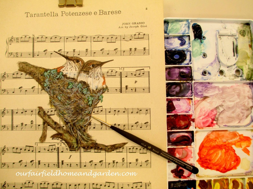 Baby Hummingbirds http://ourfairfieldhomeandgarden.bigcartel.com/product/baby-hummingbirds-painted-by-barb-rosen