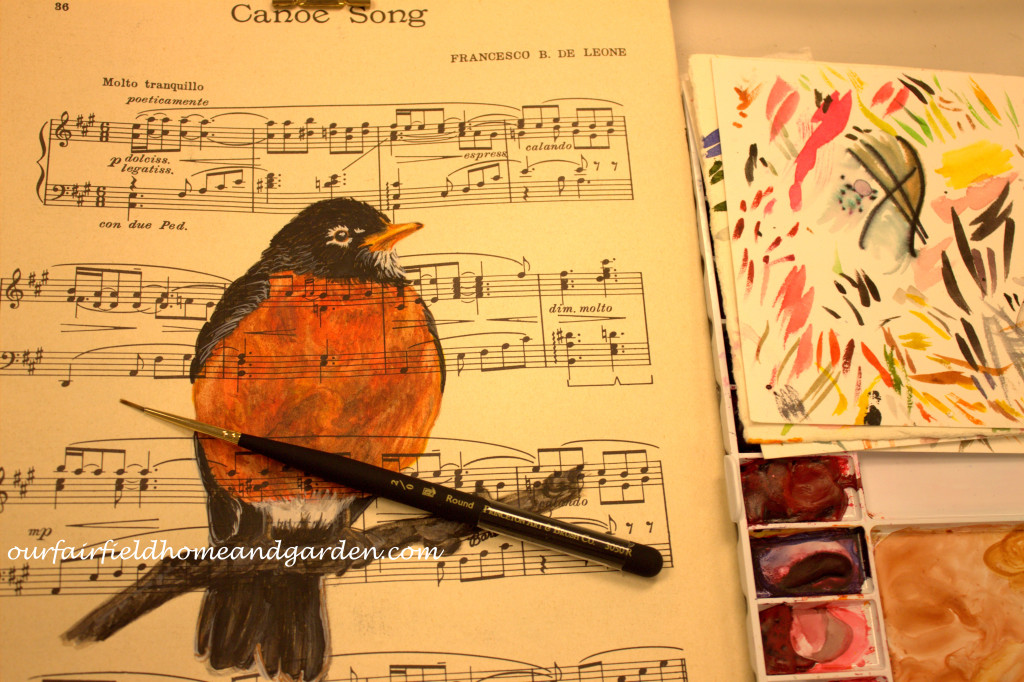 Paint a Robin http://ourfairfieldhomeandgarden.com/painting-a-robin-step-by-step/