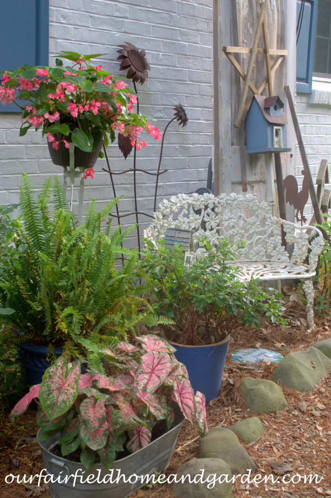 Side Garden https://ourfairfieldhomeandgarden.com/our-fairfield-home-and-garden-tour/