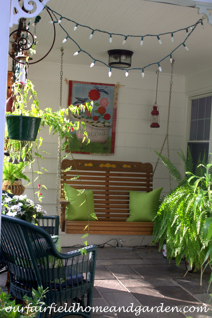 Porch Swing http://ourfairfieldhomeandgarden.com/our-fairfield-home-and-garden-tour/