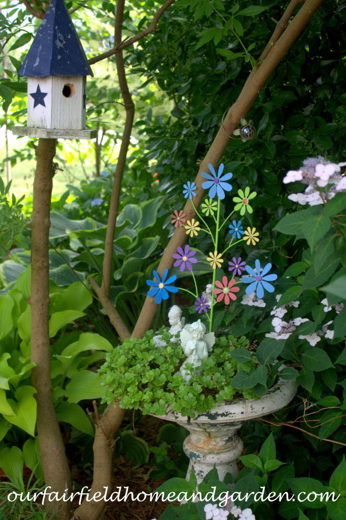 Garden Fairies http://ourfairfieldhomeandgarden.com/our-fairfield-home-and-garden-tour/