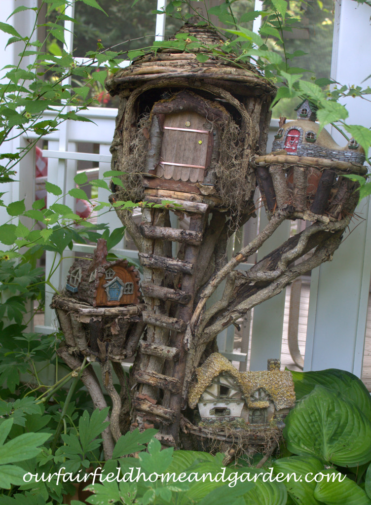 Fairy Houses http://ourfairfieldhomeandgarden.com/our-fairfield-home-and-garden-tour/
