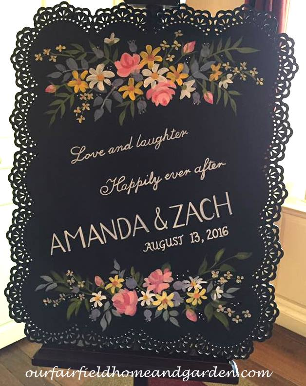 Wedding Keepsake Sign http://ourfairfieldhomeandgarden.com/loving-touches-create-an-elegant-wedding-for-less/