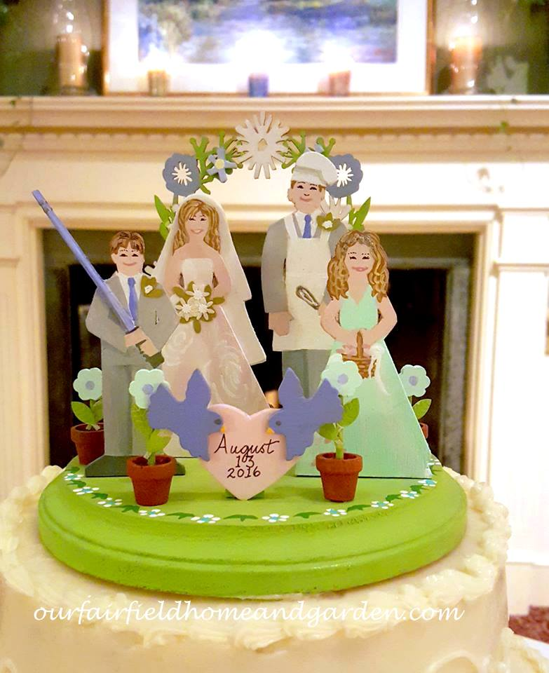 Wedding Cake Topper http://ourfairfieldhomeandgarden.com/loving-touches-create-an-elegant-wedding-for-less/
